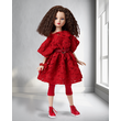 Wistful Red Dressed Doll