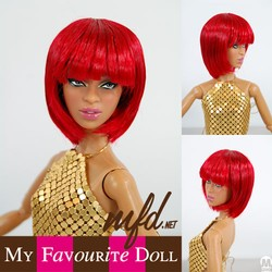 Bubbles Wig RED Size 4