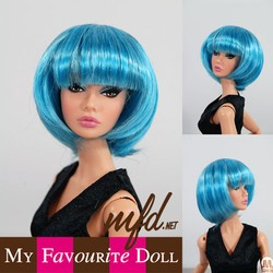 Bubbles Wig Turquoise Size 4