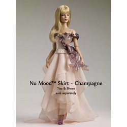 Nu Mood Chiffon Skirt- Champagne
