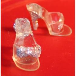 OT Clear w Silver Glitter (B)