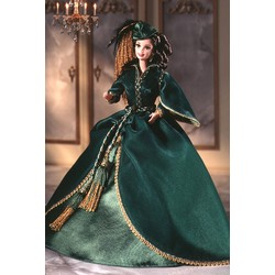 GWTW Barbie as Scarlet Green Drapery Dress