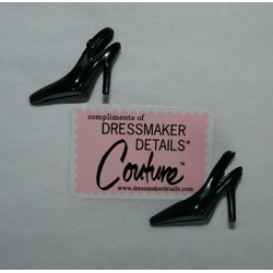 DDC Shoes Black Slingbacks Pair