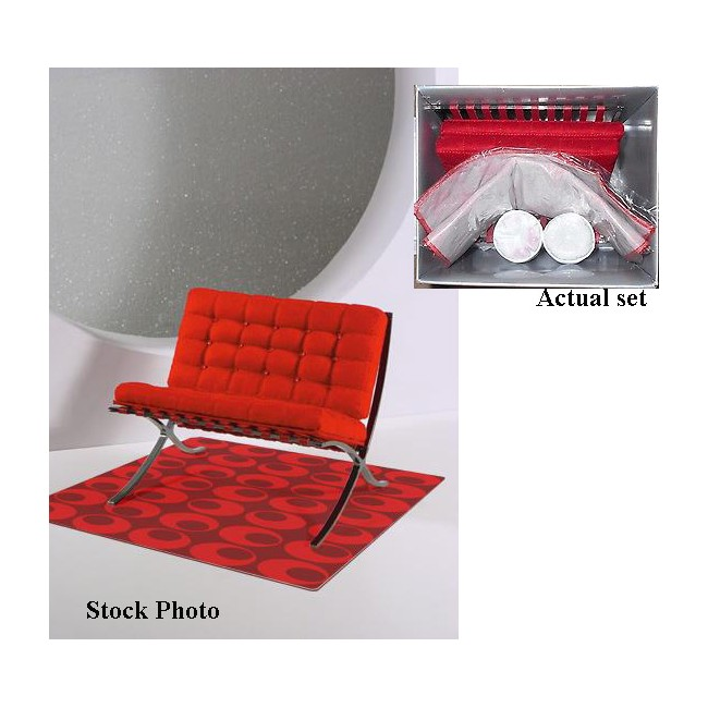 My Favourite Doll - Interior Motive Luxury Décor Barcelona Chair (red)