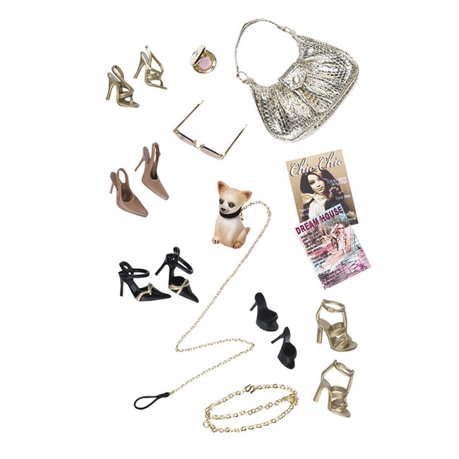 my favourite doll barbie basics gold accessory pak