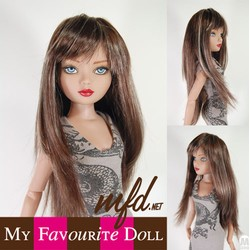 Faith Wig Brunette Black and Honey Blonde Size 6-7