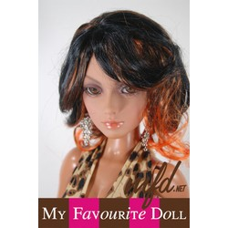 Sahara Wig Off Black & Orange Size 8-9