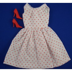 Sundress - White with Red Swiss Dots DDC